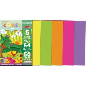 Bloco Eco Cores Lumi A4 50 folhas Novaprint