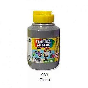 Tinta Guache 250ml Cinza Acrilex