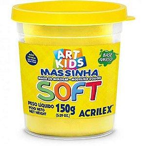 Massinha de Modelar Pote 150g Amarelo Limão 102 Acrilex