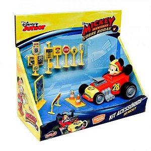 Carrinho Roda Livre Mickey Kit Acessórios 34000 Toyng