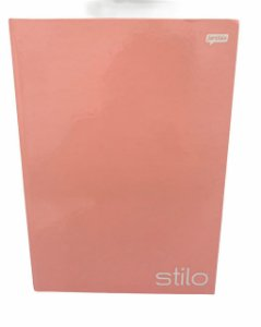 Caderno Brochurão Stilo Pastel 96 folhas Capa Dura Rosa - Jandaia