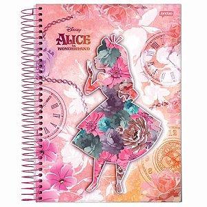 Caderno Universitário 96 folhas Capa Dura Alice - Jandaia