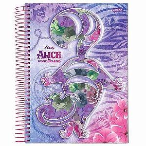 Caderno Universitário 200 folhas Capa Dura Alice - Jandaia