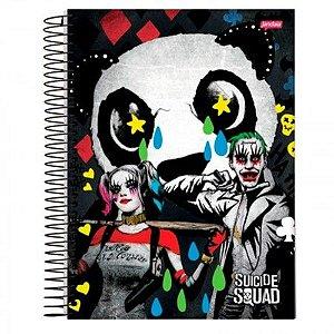 Caderno Universitário 96 folhas Capa Dura Esquadrão Suicida - Jandaia