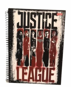 Caderno Universitário 96 folhas Capa Dura Liga da Justiça - Jandaia
