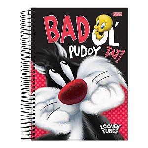 Caderno Universitário 96 folhas Capa Dura Looney Tunes - Jandaia