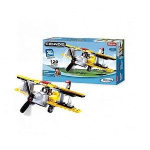 Bloco de Montar Avião Monomotor 120 peças 01487 Xalingo