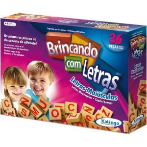 Jogo Pedagógico Madeira Brincando com Letras 36 peças 52698 Xalingo