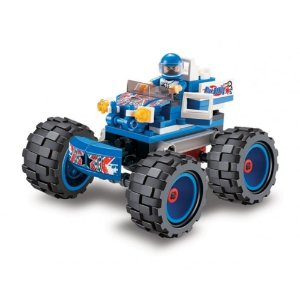 Bloco de Montar Monster Truck Azul 107 peças 05554 Xalingo