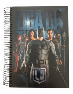 Caderno Universitário 200 folhas Capa Dura Liga da Justiça - Jandaia