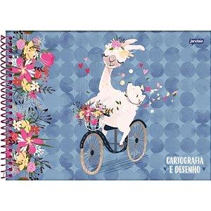 Caderno de Desenho Cartografia 96fls Lhama - Jandaia