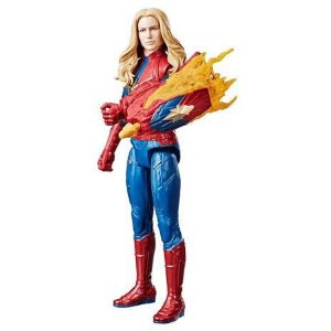 Boneca Eletrônica Capitã Marvel Titan Hero E3307 Hasbro