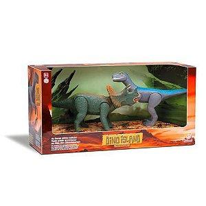 Dinossauro Triceratops e Velociraptor 1565 Silmar