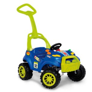 Carro Smart Passeio com Pedal Azul 463 Bandeirante