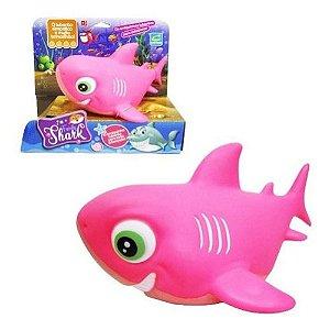 Boneco Vinil Tubarão Family Shark Pink  219 Cometa