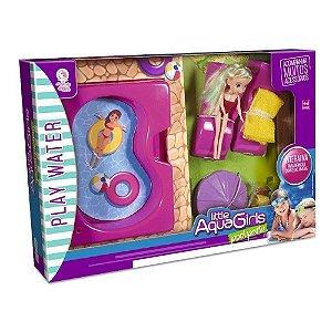 Boneca com Piscina Little Aqua Girls com Acessórios 255 Lua de Cristal