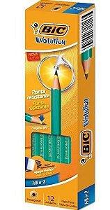 Lápis Preto Bic Evolution com 12 unidades