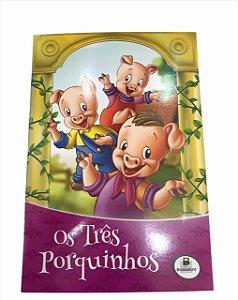 Livro de História Infantil Clássicos Os Três Porquinhos