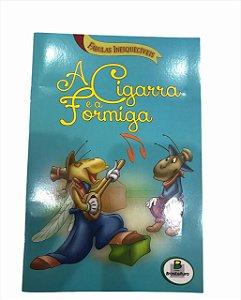 Livro de História Infantil Fabulas A Cigarra e a Formiga