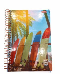Caderno Espiral 1/4 Capa Dura 96 folhas Brasilidade - Jandaia