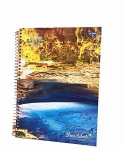 Caderno Universitário 96 folhas Capa Dura Brasilidades Jandaia