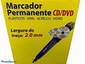 Marcador Permanente CD 2.0mm Azul Maripel