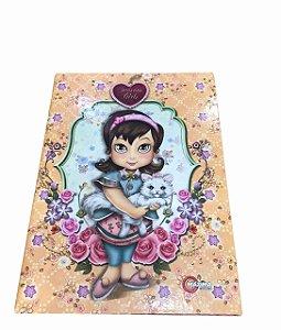 Caderno Brochurão 96 folhas Capa Dura Seasons Girls Máxima