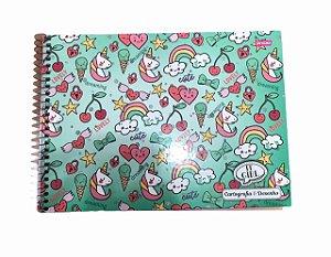 Caderno de Desenho Cartografia 96 folhas It Girls Jandaia