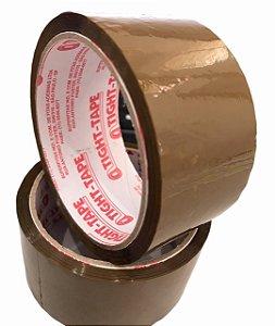 Fita Adesiva de Empacotamento 45mm x 45m Marrom Tight Tape - Unidade