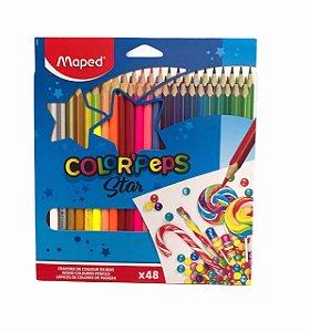 Lápis de cor Color' Peps Star 48 cores  Maped