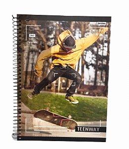 Caderno Universitário 96 folhas Capa Dura Teen Way - Jandaia