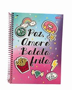 Caderno Universitário 96 folhas Capa Dura It Girl Jandaia