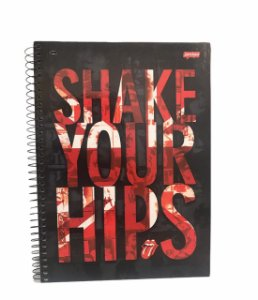 Caderno Universitário 96 folhas Capa Dura Rolling Stones - Jandaia