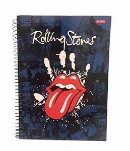 Caderno Universitário 96 folhas Capa Dura Rolling Stones Jandaia