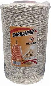 Barbante Barbanfio 6 Fios 2kg Cru