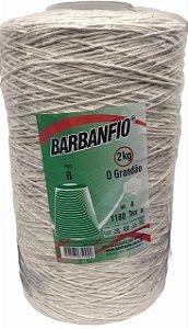 Barbante Barbanfio 8 Fios 2kg Cru