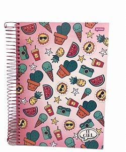 Caderno Universitário 200 folhas Capa Dura It Girl - Jandaia