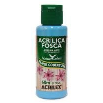 Tinta Acrílica Fosca Nature Colors 60ml Azul Celeste 503 Acrilex