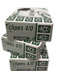 Clipes 4/0  40 mm ACC