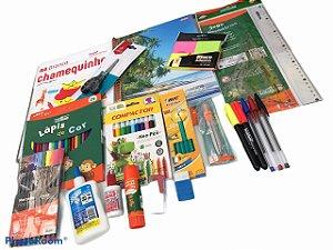 Kit Escolar Básico Fundamental II com 20 Itens
