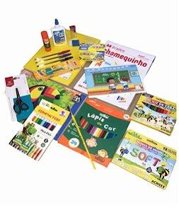 Kit Escolar Básico Fundamental I com 19 Itens + Brinde