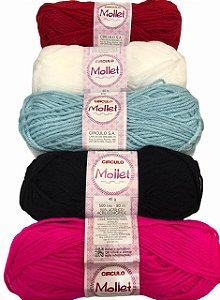 Lã Mollet 40g 80m Cores Variadas - Círculo