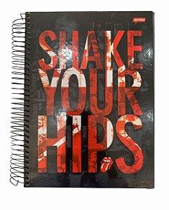 Caderno Universitário 200 folhas Capa Dura Rolling Stones - Jandaia