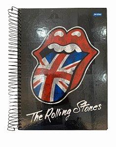 Caderno Universitário 200 folhas Capa Dura Rolling Stones Jandaia