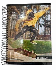 Caderno Universitário 200 folhas Capa Dura Teen Way - Jandaia