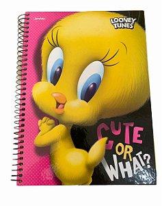 Caderno Universitário 96 folhas Capa Dura Looney Tunes Piu-Piu - Jandaia