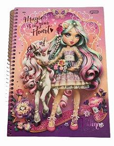 Caderno Universitário 96 folhas Capa Dura La Fadine Jandaia