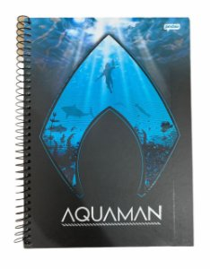 Caderno Universitário 96 folhas Capa Dura Aquaman - Jandaia