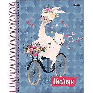 Caderno Universitário 200 folhas Capa Dura Lhama - Jandaia