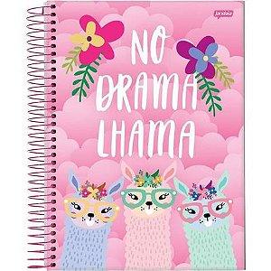 Caderno Universitário 200 folhas Capa Dura Lhama Jandaia